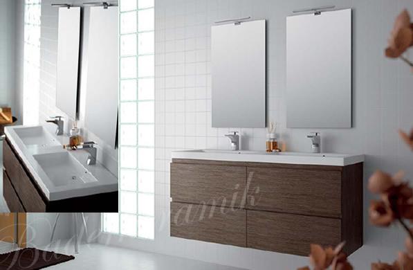 Meran design badm bel die top serie von baderkeramik for Designer doppelwaschtisch